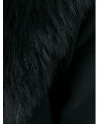 P.A.R.O.S.H. - Black - 'lover' Coat - Women - Polyester/wool/marmot Fur - S - Lyst