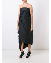 Rick Owens - Black Padded Asymmetric Dress - Lyst