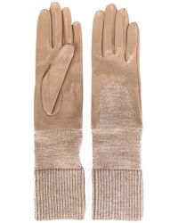 Gala - Natural Knitted Cuff Gloves - Lyst
