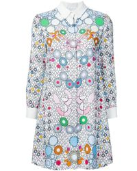Peter Pilotto | Multicolor - Geometric Print Shirt Dress - Women - Viscose - 8 | Lyst