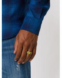 Maison Margiela | Yellow Sport Ring for Men | Lyst