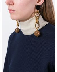 Marni - Metallic Oversized Chain Clip-on Earrings - Lyst