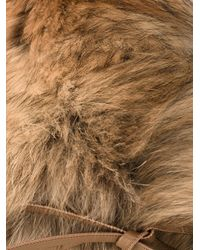 Woolrich - Natural Racoon Fur Ring Scarf - Lyst