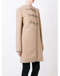 Carven - Blue Toggle Fastening Duffle Coat - Lyst