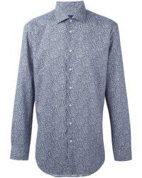 Etro | Blue Floral Print Button Down Shirt for Men | Lyst
