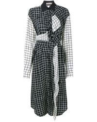 Preen Line | Blue Grid Print Shirt Dress | Lyst
