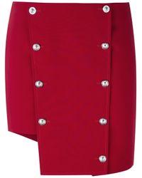Versus   Red Asymmetric Mini Skirt   Lyst