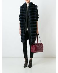 Manzoni 24 | Blue Panelled Fur Coat | Lyst