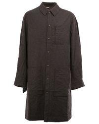Moohong - Gray Long Fit Shirt for Men - Lyst