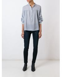 MASSCOB - Blue Crinkled Shirt - Lyst