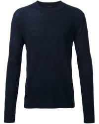 ATM | Blue Ribbed Knit Jumper for Men | Lyst