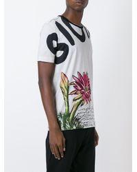 Dolce & Gabbana - Gray Floral Print T-shirt for Men - Lyst