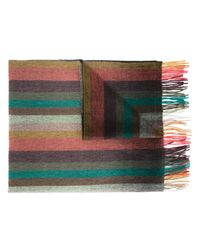 Paul Smith | Multicolor Cashmere Striped Scarf for Men | Lyst