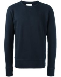 Officine Generale | Blue 'sweat' French Terry Sweatshirt for Men | Lyst