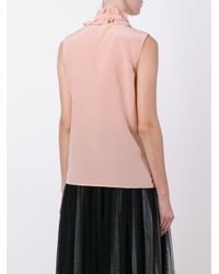 RED Valentino - Multicolor Ruffled Sleeveless Blouse - Lyst