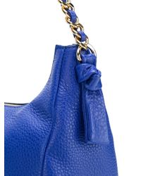 Tory Burch - Blue Fringe Hobo - Lyst