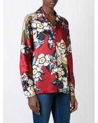 DSquared² - Multicolor 'cherry Blossom' Pyjama Shirt - Lyst