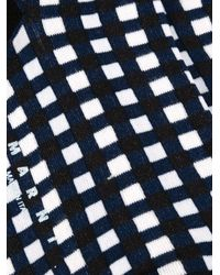 Marni - Blue Grid Print Socks - Lyst