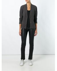 Allude - Brown V-neck Buttoned Cardigan - Lyst