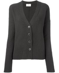 Allude | Brown V-neck Buttoned Cardigan | Lyst