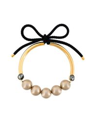 Marni - Multicolor Bow Fastening Pearl Necklace - Lyst