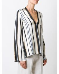 Forte Forte - Multicolor Striped V-neck Blouse - Lyst