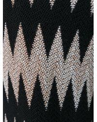 Missoni - Black Zig-zag Pattern Trousers - Lyst
