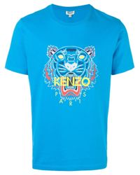 KENZO | Blue 'tiger' T-shirt for Men | Lyst