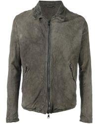 Giorgio Brato | Gray Leather Zipped Jacket for Men | Lyst