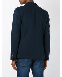 AMI - Blue Double Breasted Jacket for Men - Lyst