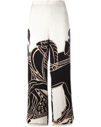 Tory Burch | White 'trocadero' Trousers | Lyst