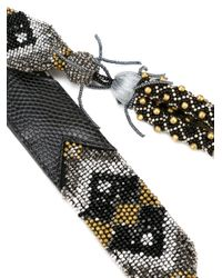 Etro   Black Patterned Beaded Tassel Belt   Lyst