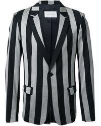 Strateas Carlucci | Black 'proto' Striped Blazer for Men | Lyst