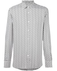 bd7fd1b9adf11 Lyst - Saint Laurent - Cards Suit Print Shirt - Men - Viscose - 41 ...