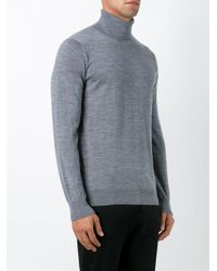 Closed - Gray Roll Neck Sweater for Men - Lyst