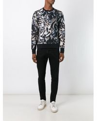 PS by Paul Smith - Paul Smith Sweatshirt With All Over Tiger Print In Regular Fit Black for Men - Lyst