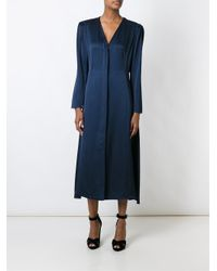 Lanvin - Blue Long Flared Dress - Lyst