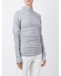 JOSEPH | Gray High Neck Sweater | Lyst