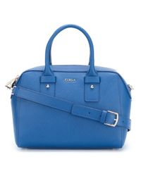 Furla | Blue Elena Medium Saffiano Leather Satchel | Lyst
