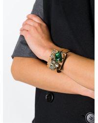 Marni - Brown Strass Bracelet - Lyst