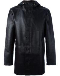 DESA NINETEENSEVENTYTWO | Black Hooded Coat for Men | Lyst