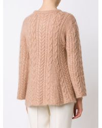 Ryan Roche - Blue Flared Cable Knit Jumper - Lyst