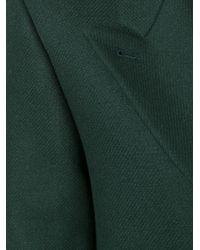 PS by Paul Smith - Green Peaked Lapel Mid Coat - Lyst