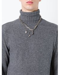 Alexander McQueen - Metallic Multi Chain Necklace - Lyst