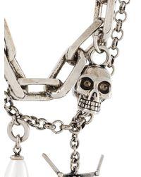 Alexander McQueen - Metallic Multi Chain Necklace - Lyst