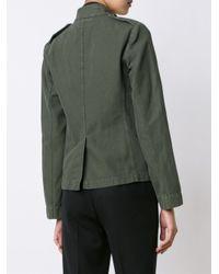 Nili Lotan | Green Cotton and Linen-Blend Cargo Jacket | Lyst