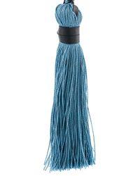 DSquared² - Multicolor 'samurai' Single Tassel Earrings - Lyst