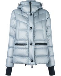 moncler grenoble 39 abries 39 padded jacket in gray lyst. Black Bedroom Furniture Sets. Home Design Ideas