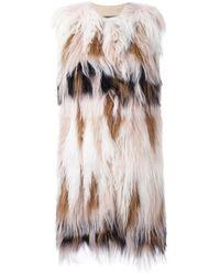 Giambattista Valli | Multicolor Sleeveless Fur Coat | Lyst