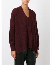 Mame - Multicolor Cable Knit Jumper - Lyst